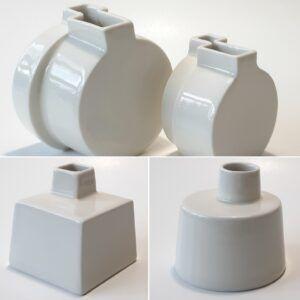 Porcelænsvaser - asymmetriske
